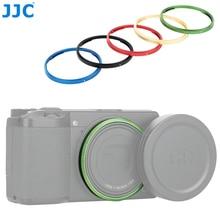 JJC dayanıklı alüminyum Lens yüzük Ricoh GR III GRIII GR3 kamera değiştirir Ricoh GN 1 Lens dekorasyon halka kap