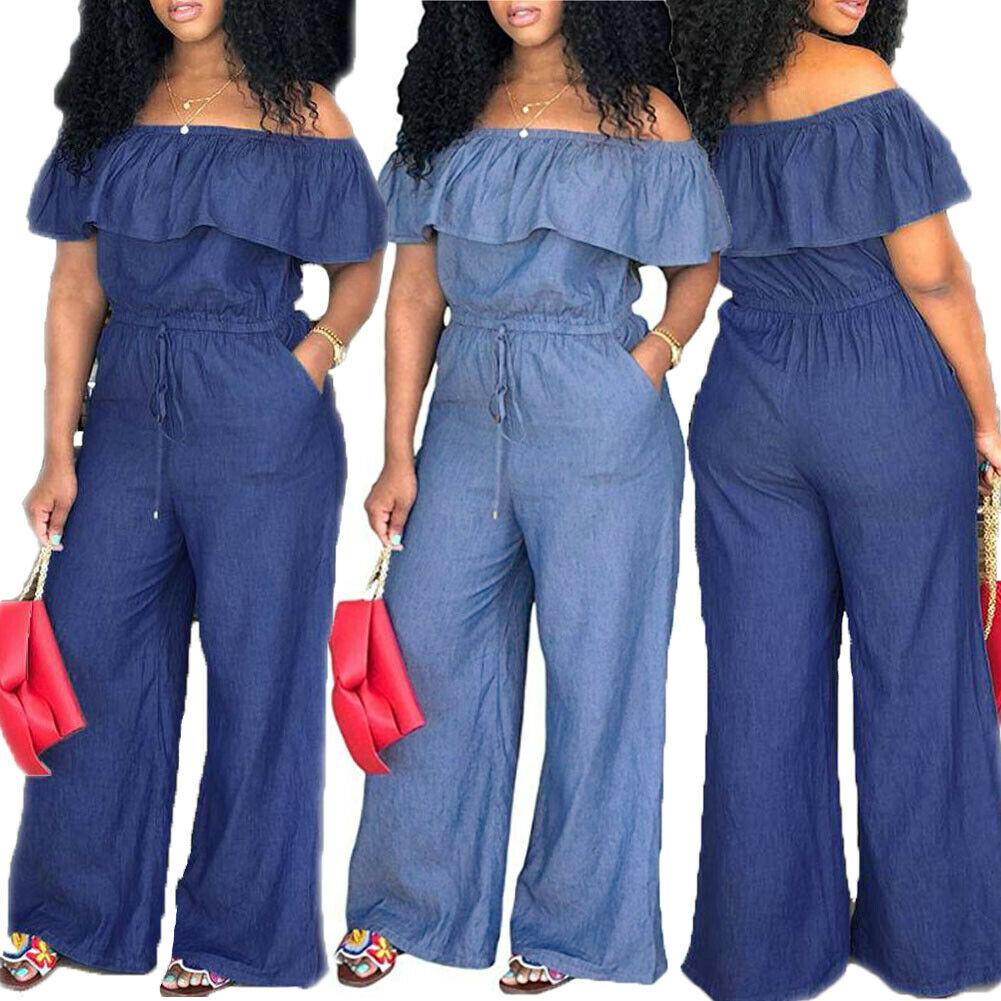 Mode Frauen Damen Baggy Denim Jeans Bib Volle Länge Pinafore Latzhose Insgesamt Solide Lose Kausalen Overall Hosen Sommer Heißer