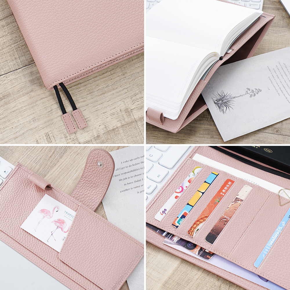 Moterm Genuine Leather Cover for Stalogy B6 Size Notebook Cover Diary Planner Journal Stationery Agenda Organizer with BigPocket 3