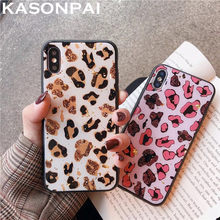 Luxe Gouden Folie Bling Leopard Spot Glitter Phone Case Voor Iphone 11 Pro X Xs Max Xr 7 8 6 6S Plus Fashion Soft Cover Case(China)