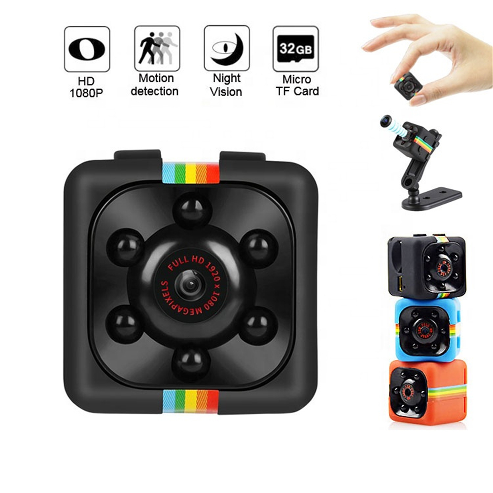 <font><b>Mini</b></font> Hidden Secret Digital Video Espion <font><b>Camera</b></font> with Night Vision Micro Surveillance Security Nanny Cam for Home Car Drone Office image