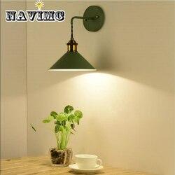 Sztuka w stylu Vintage Deco proste kinkiet do badania sypialnia lampki nocne oświetlenie Lampy ścienne Lampy i oświetlenie -