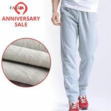 FALIZA New Mens Pants Velvet Thick Joggers Fleece Men Straight Pants Winter Warm Velvet Sweatpants Men Joggers Casual Pants CKD