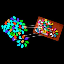 10Pcs Leuke Glow In The Dark Pebbles Kunstmatige Lichtgevende Steen Loopbrug Aquarium Accessoires Fish Tank Decor
