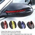 Крышка для зеркала из углеродного волокна для Mercedes W205 W222 W213 W238 X205 GLC GLS C S GLC E Class C180 C200 AMG 1:1 замена стиль AMG
