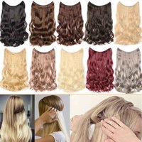 200pcs/lot Wave Halo Hair Extensions Invisible Ombre Bayalage Synthetic Natural Flip Hidden Secret Wire Crown Hair Pieces