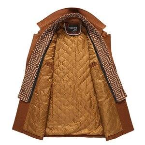 Image 5 - BOLUBAO hommes hiver laine manteau 2019 hommes nouvelle décontracté couleur unie laine mélanges laine caban mâle Trench manteau pardessus