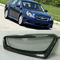Use for Subaru Legacy Racing Grills 2010 2012 Year real carbon fibre front center racing grille cover accessorie body kit