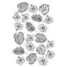 AZSG Different Leaves Flowers Clear Stamps For DIY Scrapbooking/Card Making/Album Decorative Silicone Stamp Crafts