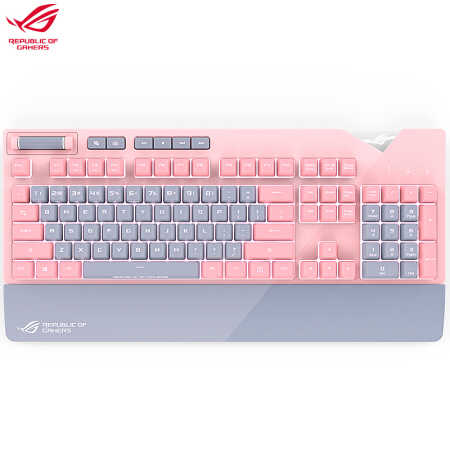 Asus Rog Strix Flare Pnk Mechanical Gaming Keyboard Ltd Sakura Pink Crystal Color Cute Pink Keyboards Aliexpress