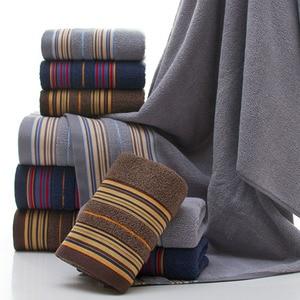 Image 2 - GIANTEX 3 Stück Baumwolle Handtuch Set Bad Super Absorbent Bad Handtuch Gesicht Handtücher Für Erwachsene serviette de bain toallas recznik