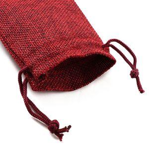 Image 4 - 10 шт рождественские льняные джутовые подарочные сумки с кулиской, мешки для свадьбы, дня рождения, вечеринки, подарочные сумки с кулиской, Детские принадлежности для душа