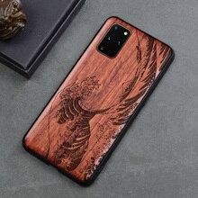 Carveit Telefoon Case Samsung Galaxy S21 S20 Fe Note 20 Ultra Note 10 S10 Plus Originele Gesneden Hout Tpu Shell zachte Rand Accessoires