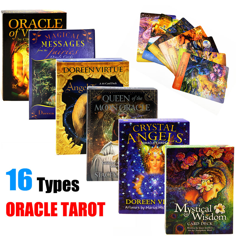 16 Style Oracle Tarot Cards Deck Playing Card Board Game English Tarot Table Cards Holiday Family Gift Party Playing Card