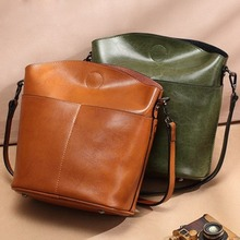 New trend ladies bag cowhide fashion shoulder bag casual female bag wild simple leather crossbody bag luodun 2018 new backpack female shoulder bag leather fashion korean wave simple bag college wind mini bag ladies bag