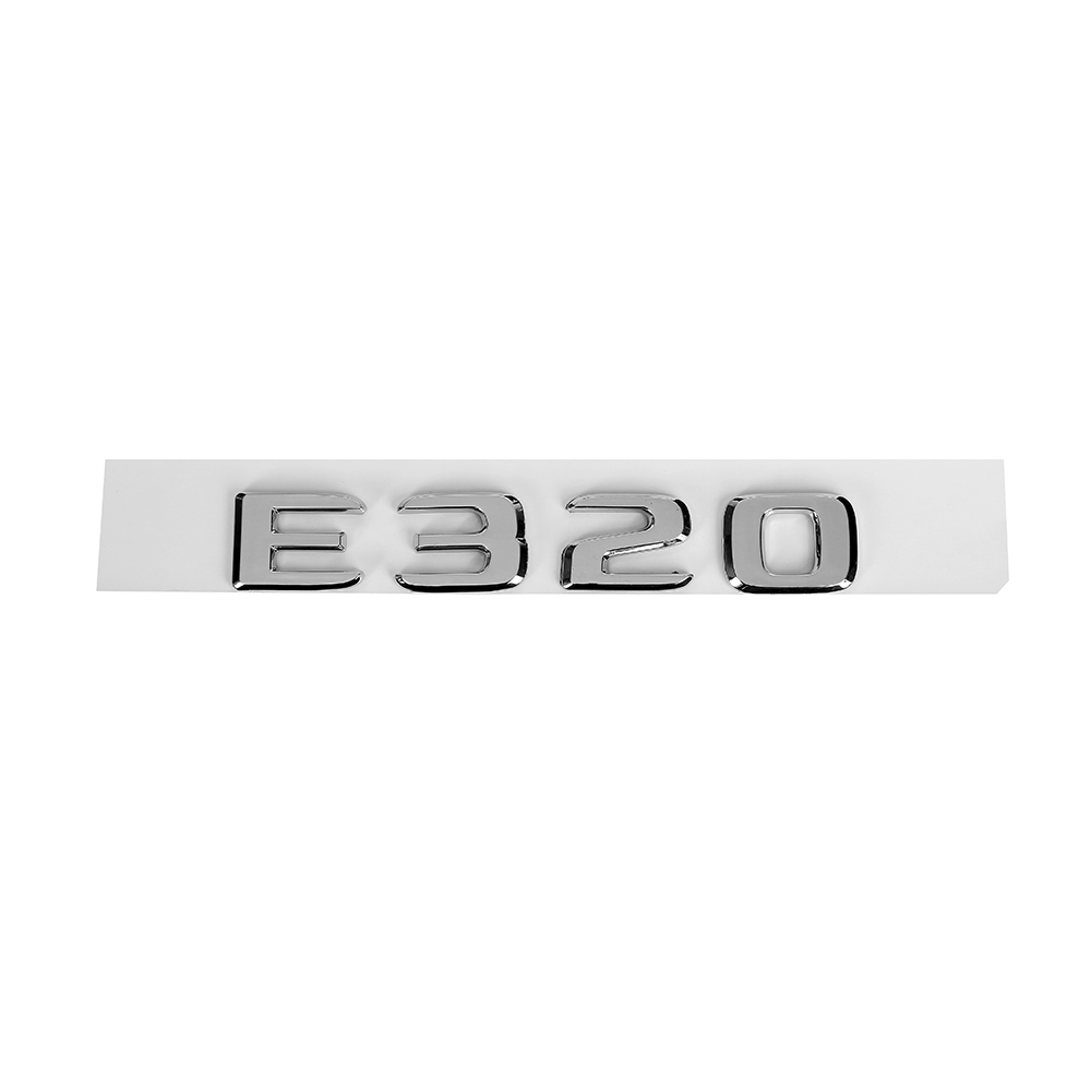 For <font><b>Mercedes</b></font> Benz E Class 170 W110 W114 W115 W123 <font><b>W124</b></font> W210 W211 W212 E320 Trunk Rear Emblem Badge <font><b>Chrome</b></font> Letters Sticker image