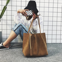 2pce/set Womens purses and handbags 2019 New Fashion brown bag Large Capacity women pu leather shoulder messenger bag tote purse new women tote bag high capacity female casual fashion ol business cattle split leather messenger handbags black brown gray