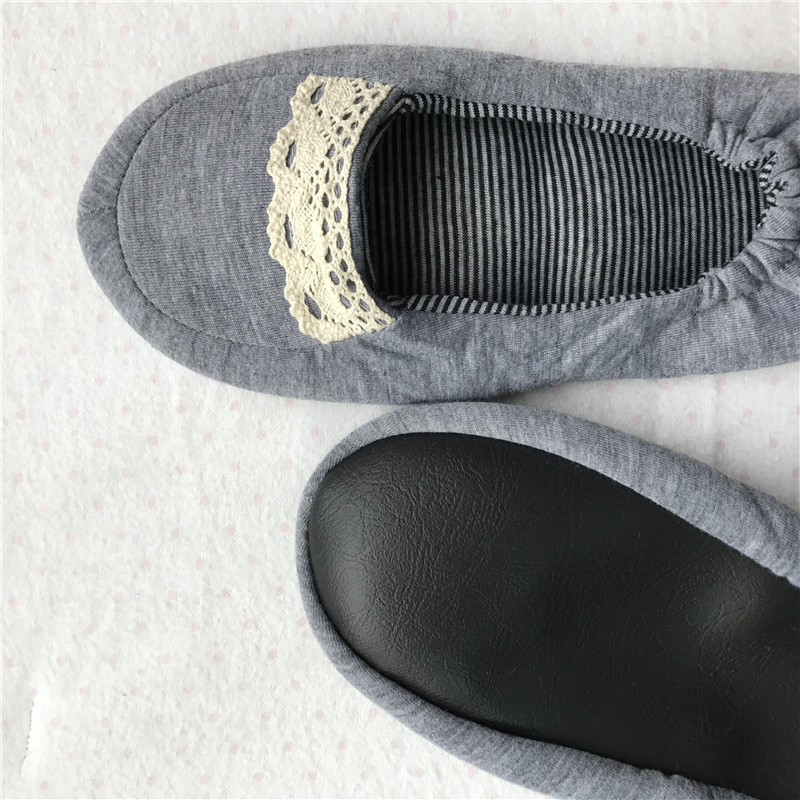 Business Trip Travel Aviation Portable Folding Slipper Indoor Slippers Mute Soft-Sole With Storage Bag Carriable Shoes