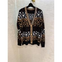 100% cashmere geometric pattern cardigan sweater knit cardigan metal button cardigan denny cashmere cardigan