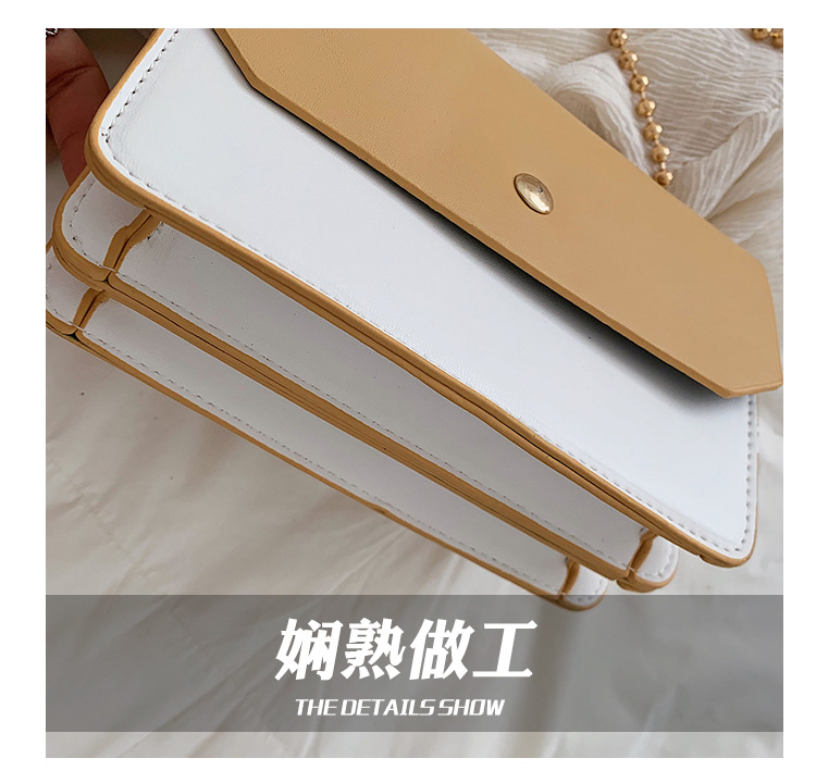 Image 5 - The new girl 2019 new bead chain double belt linear ramp Pack Single shoulder bag stylish and small parties.-in Top-Handle Bags from Luggage & Bags