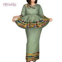 Халат ткань африканская Женская юбка костюм плиссированная летняя