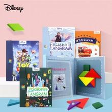 Rompecabezas magnético de Disney 3D Frozen 2, juego Tangram Montessori de aprendizaje, juegos educativos de dibujo, juguete para regalo para niños