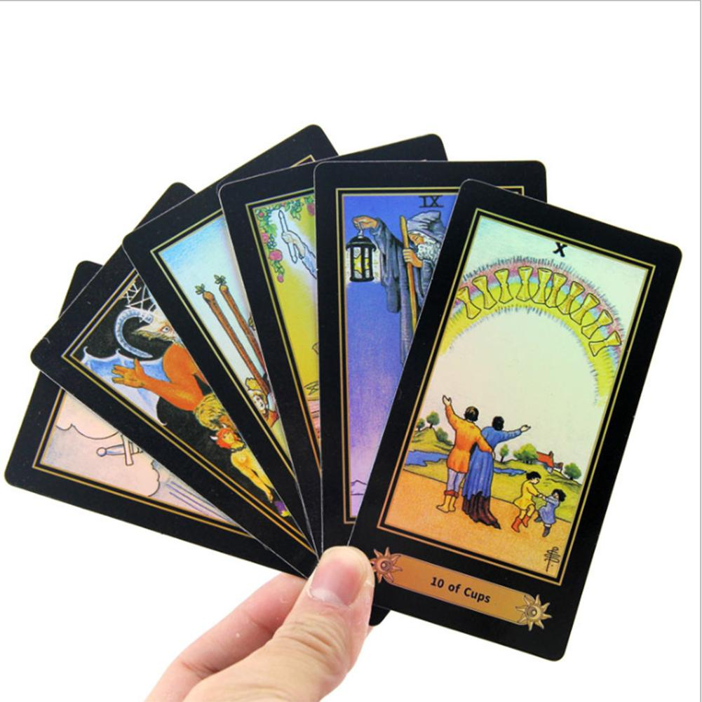 78 Pcs English Tarot Cards Game Exquisite Pattern Table Deck Board Games For Family Party Game Playing Card Gift With Guidebook