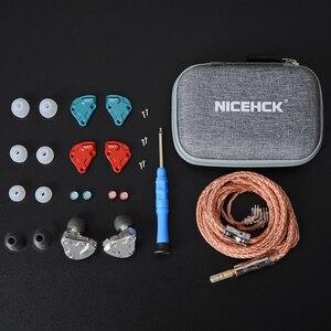 Image 5 - NICEHCK NX7 פרו 7 נהג HIFI אוזניות 4BA + כפולה CNT דינמי + פיזואלקטריים קרמיקה היברידי להחלפה מסנן Facepanel IEM DJ