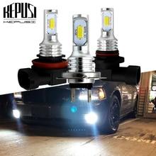 цена на 2x H7 H8 H11 led fog lamp 9006 HB4 H1 H3 CSP Chip External Led Bulb Car Led Fog Driving Lights Lamp Light Source white yellow