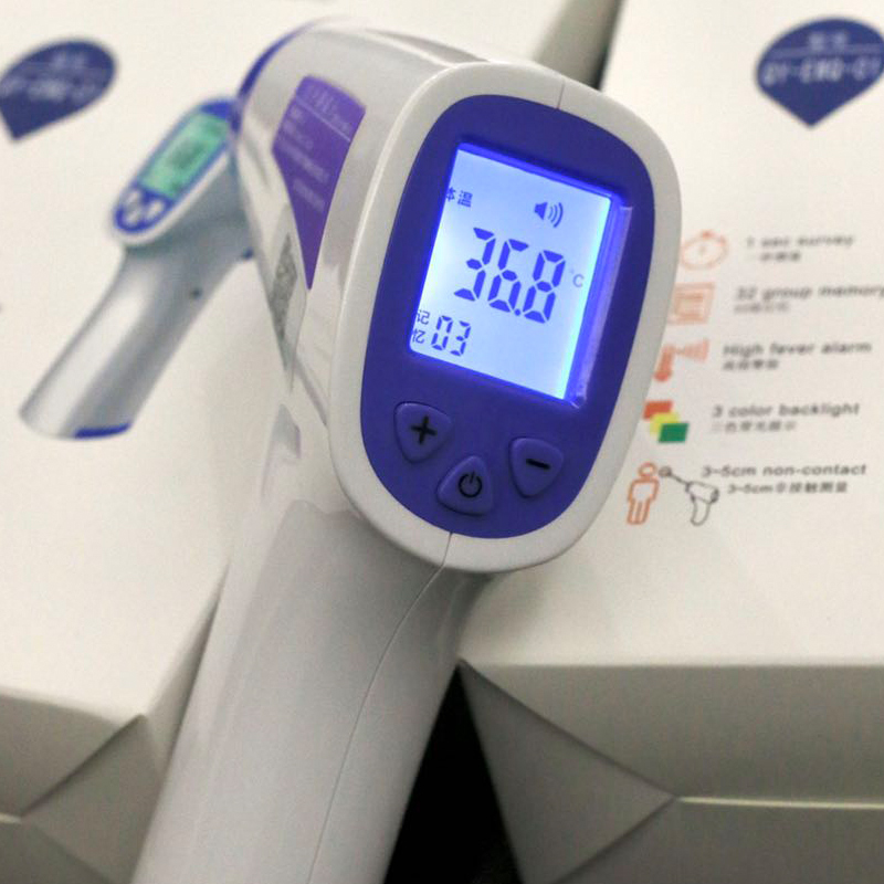 Thermomètre infrarouge Laser IR sans Contact affichage Laser LCD compteur de température C/F sélection thermomètre corporel