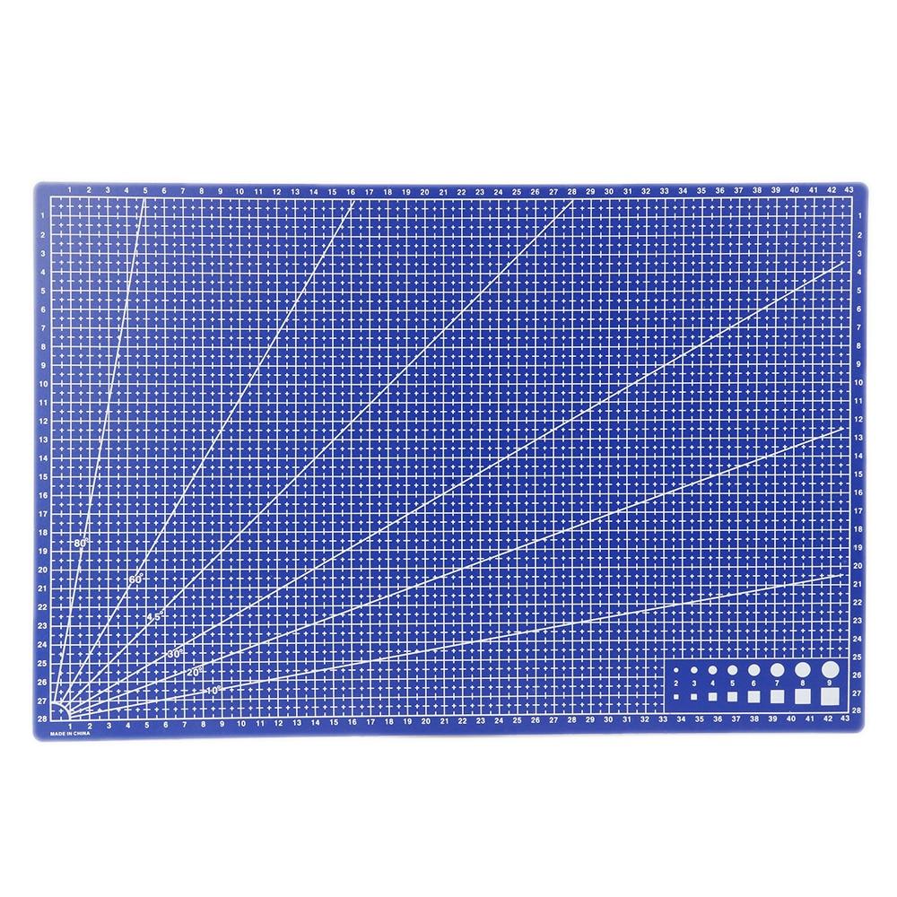 A3 Pvc Cutting Mat A3 Rectangular A3 Cutting Mat Grid Line Tool Plastic 45cm * 30cm Cutting Mat