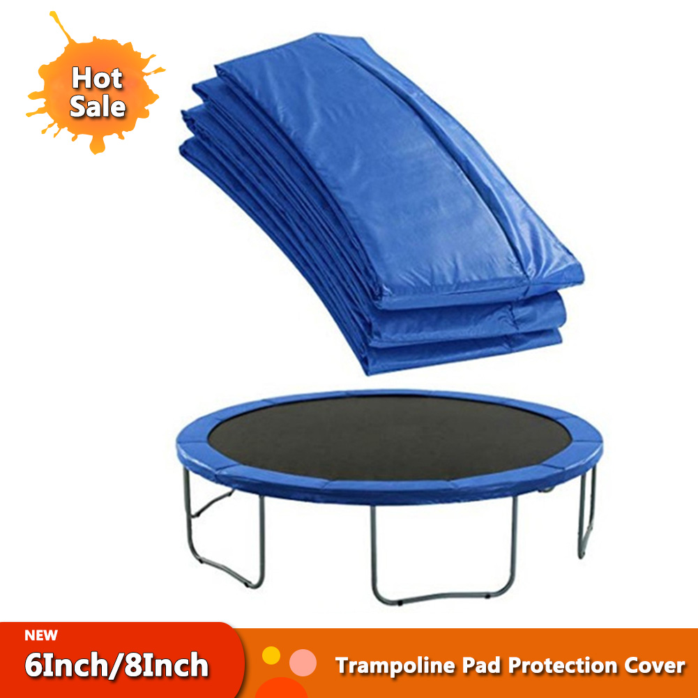 6Inch/8Inch Universal PVC Trampoline Replacement Safety Pad Spring Cover Long Lasting Trampoline Pad Edge Protection Cover