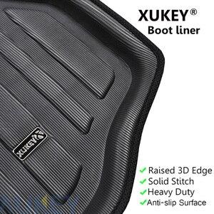Image 2 - עבור סקודה פאביה MK3 Yeti 5L Kodiaq מטען אתחול מגש אוניית מטען האחורי Trunk רצפת מחצלת שטיח מגש עמיד למים מותאם