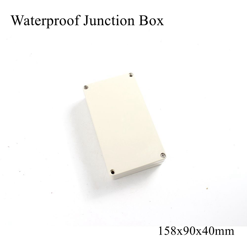 158x90x40mm Waterproof Plastic Enclosure Box Outdoor Cable Connection Wire Junction Electrical Project Case ABS IP65 158*90*40mm