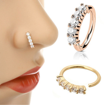 1 Pcs Piercing Nose Ring Expander Seamless Segment Ear Nose Hoops Gold Color Cz Tragus Cartilage.jpg 350x350 - 1 Pcs Piercing Nose Ring Expander Seamless Segment Ear Nose Hoops Gold Color Cz Tragus Cartilage Earrings Nostril Body Jewelry