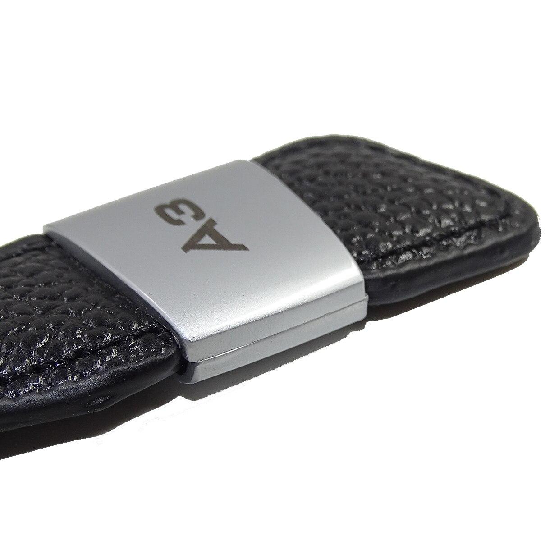Автомобильная эмблема, значок из натуральной кожи, брелок для Audi A1 A3 A4 A5 A6 A8 TT Q2 Q3 Q5 Q7 Q8, брелок для ключей, автомобильный стиль