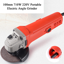 220V Electric Angle Grinder Machine DIY Polisher Woodworking Power Tool 11000rpm Electric Angle  Grinding Machine Cutting