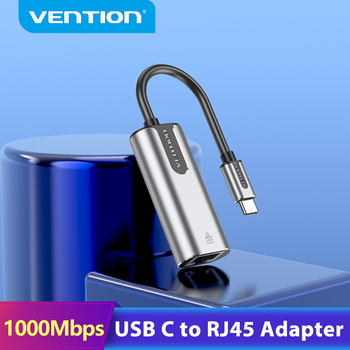 Vention USB Type C Ethernet Adapter USB C to RJ45 Lan Adapter for MacBook Pro Samsung Galaxy S9 Type C Network Card USB Ethernet image
