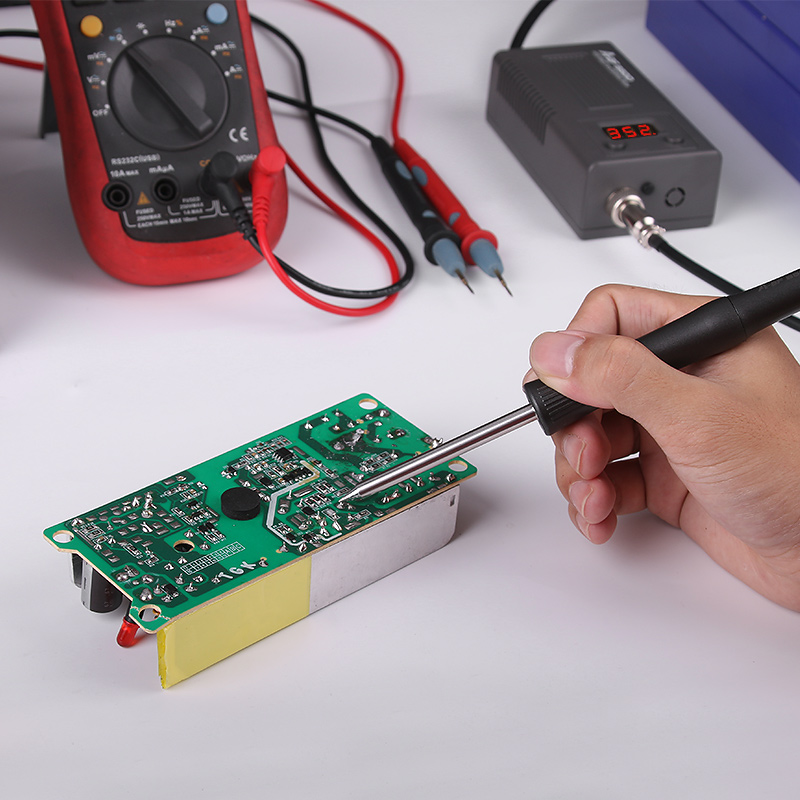 Image 2 - A BF 950D Micro Soldering Station 50W Mini Intelligent Temperature Adjustable Repair Electric Iron Rework Station Quick Heat Up-in Soldering Stations from Tools