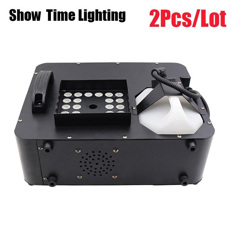 2Pcs/Lot 1500W Led Fog Machine Remote Control Can Vertical Place Smoke Machine RGB Led Disco DJ Party Make Fog Home Entertain