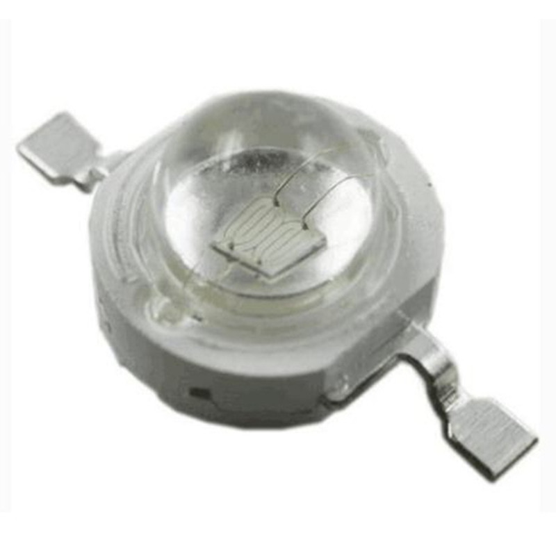 Купить с кэшбэком LED Lamp Bead 10PCS 1W 3W Green 520NM 525NM Emerald 500NM 505NM Lighting BULB 20MM Board Flashlight Bar