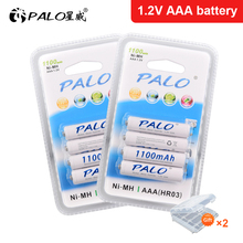 PALO 4-24 pcs AAA 1100mAh NI-MH 1.2V Rechargeable Battery AAA 3A ni mh nimh 1.2 volt Original High Capacity Current Batteries