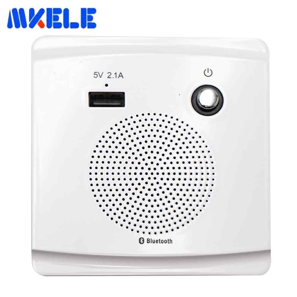 Tomada inteligente bluetooth, alto-falante 5v 2.1a, porta de carregamento usb, alto-falante hi-fi