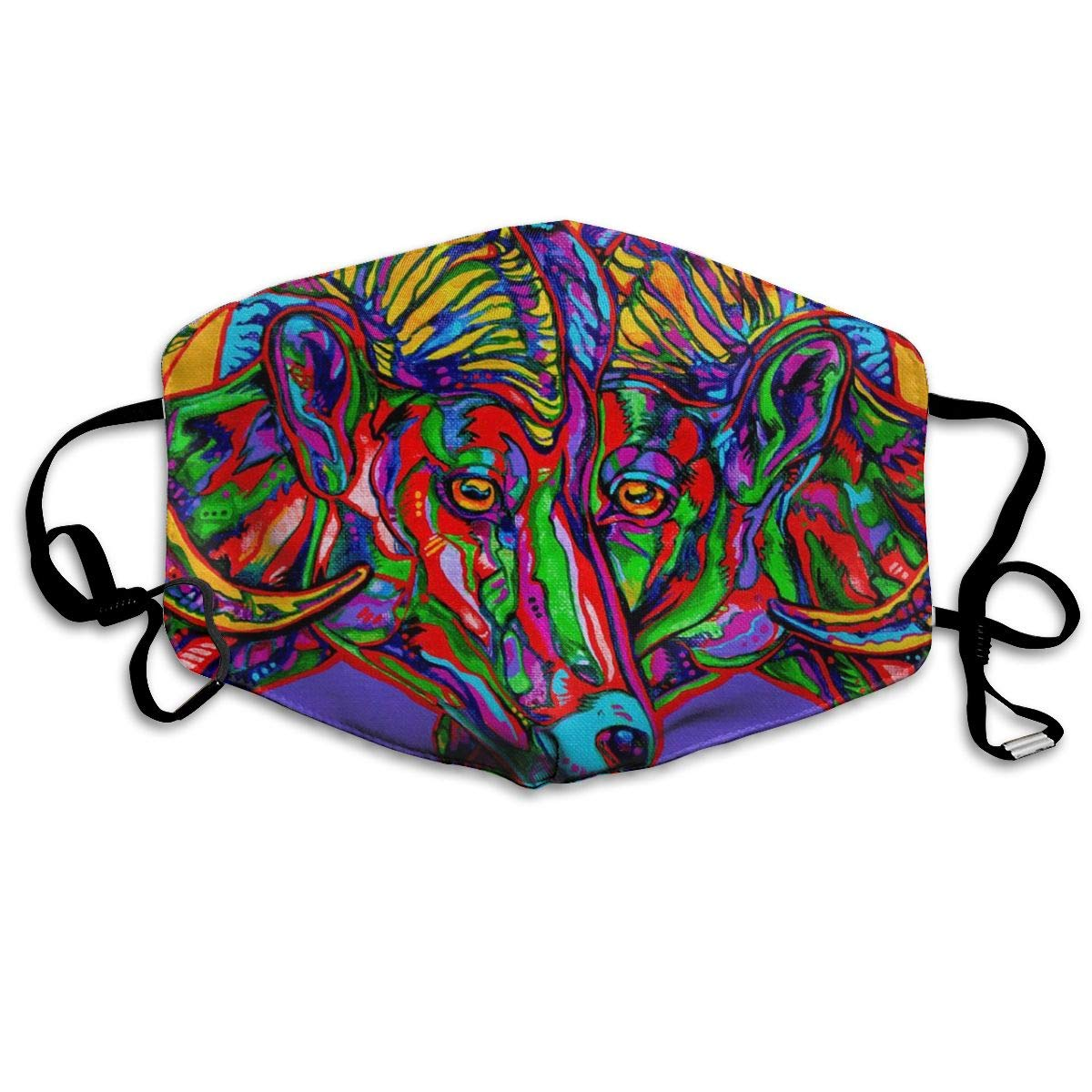 Mouth <font><b>Mask</b></font> Art Animal <font><b>Avatar</b></font> Print <font><b>Masks</b></font> - Breathable Adjustable Windproof Mouth-Muffle, Camping Running for Women and Men image