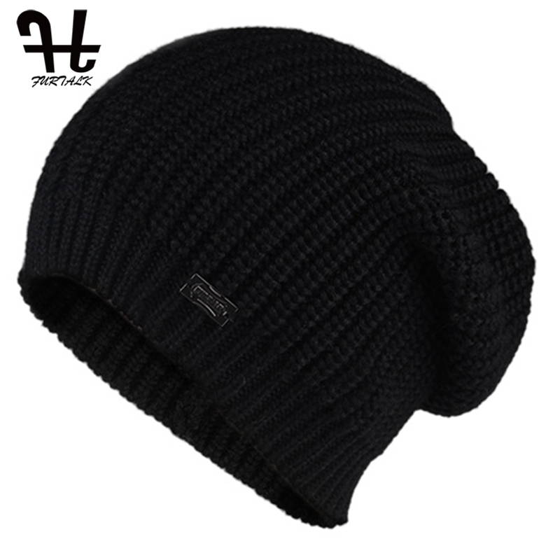 FURTALK Beanie Hat for Women Winter Warm Skullies Beanies Soft Autumn Girls Ladies Knitted Hats Female bonnet Cap Pink Black 1