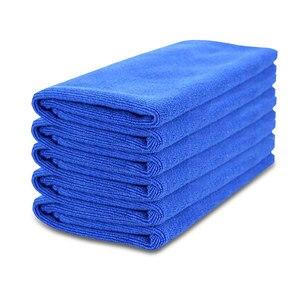 Image 2 - Nowy 50 sztuk ręcznik do mycia samochodu niebieski Anti Scratch szybkoschnący czyszczenie z mikrofibry wielofunkcyjny przyjazny dla skóry myjnia samochodowa 30*30cm