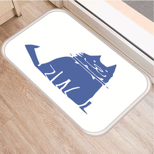 Image 5 - Alfombra suave antideslizante con diseño de Animal PEQUEÑO para decoración de dormitorio, alfombra antideslizante para cocina, sala de estar, baño, 40x60cm