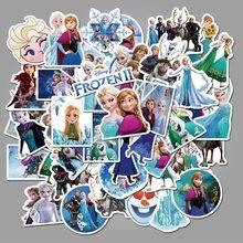 50 pçs congelado 2 adesivos anna princesa elsa graffiti disney congelado à prova dfor água adesivo para crianças no portátil skate mala bicicleta