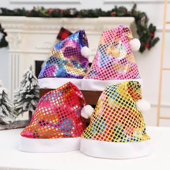 Шляпа Мужская Fedoras Christmas Hat Children's Adult Decorations Gift High-Grade Double