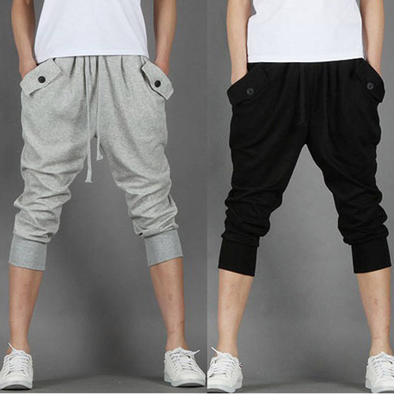 Summer Supply Of Goods Recruit Athletic Pants Skinny Pants Harem Pants Capri Pants Capris Men's
